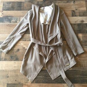 Soia & Kyo Draped Wrap Fall Hooded Coat Size M